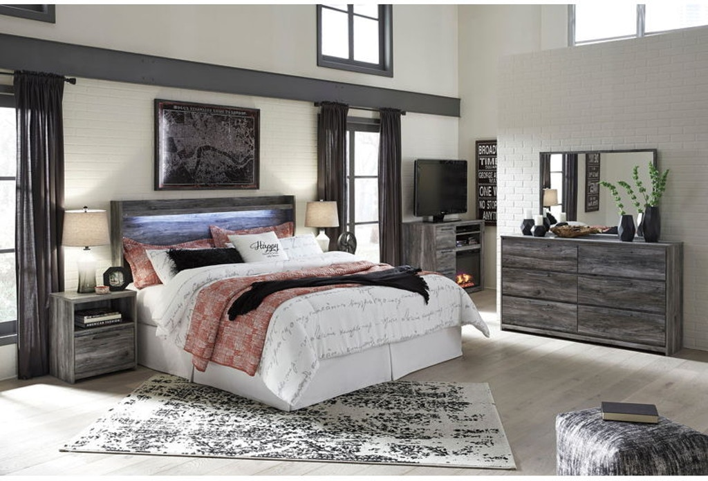 Ashley Baystorm 7 Piece King Panel Bedroom Set B221-31-36-48 ...