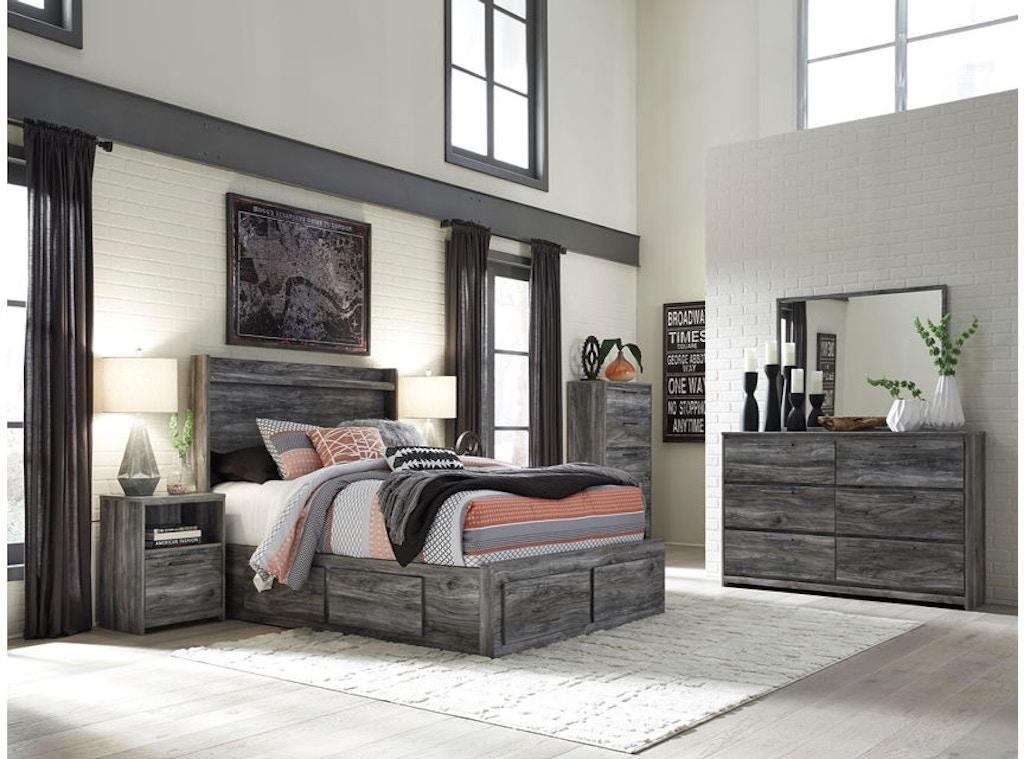 Ashley Baystorm 7 Piece King Storage Bedroom Set B221 31 36 58 56s
