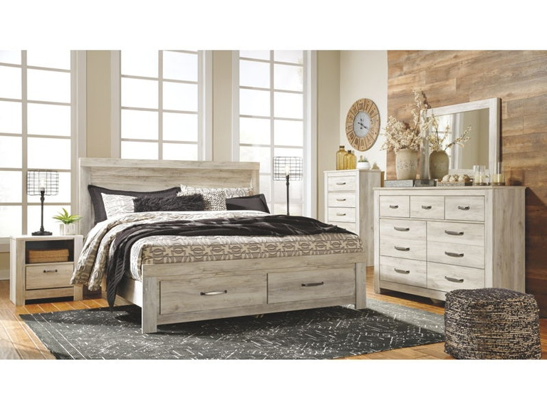 Ashley Bellaby 7 Piece King Panel Bedroom Set B331-31-36-58-56-97-91 ...