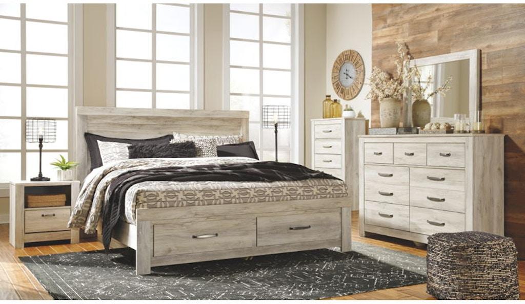5 Piece King Panel Bed Set