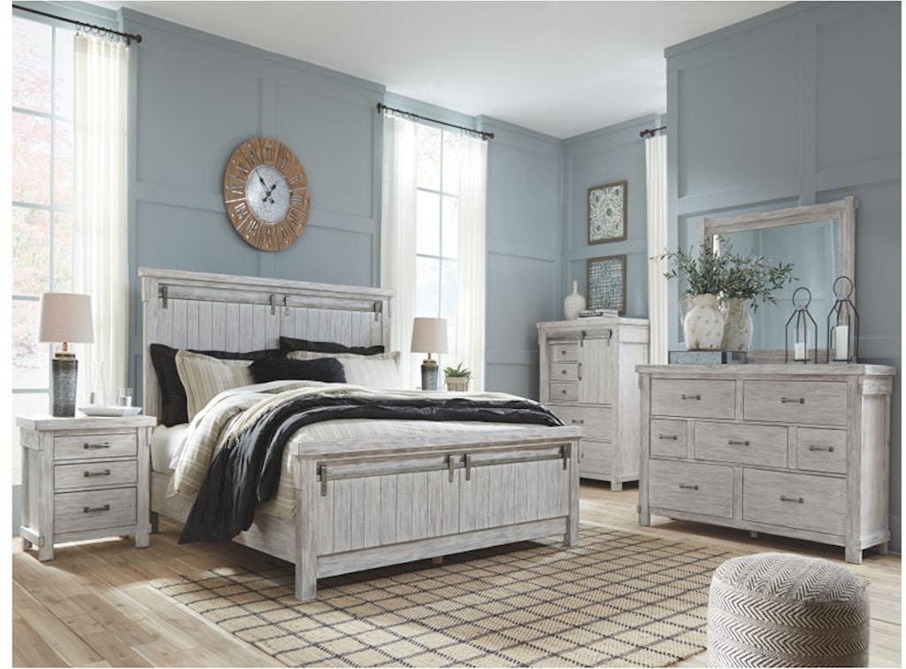 Ashley Brashland 5 Piece King Panel Bed Set B740 31 36 58 56 97