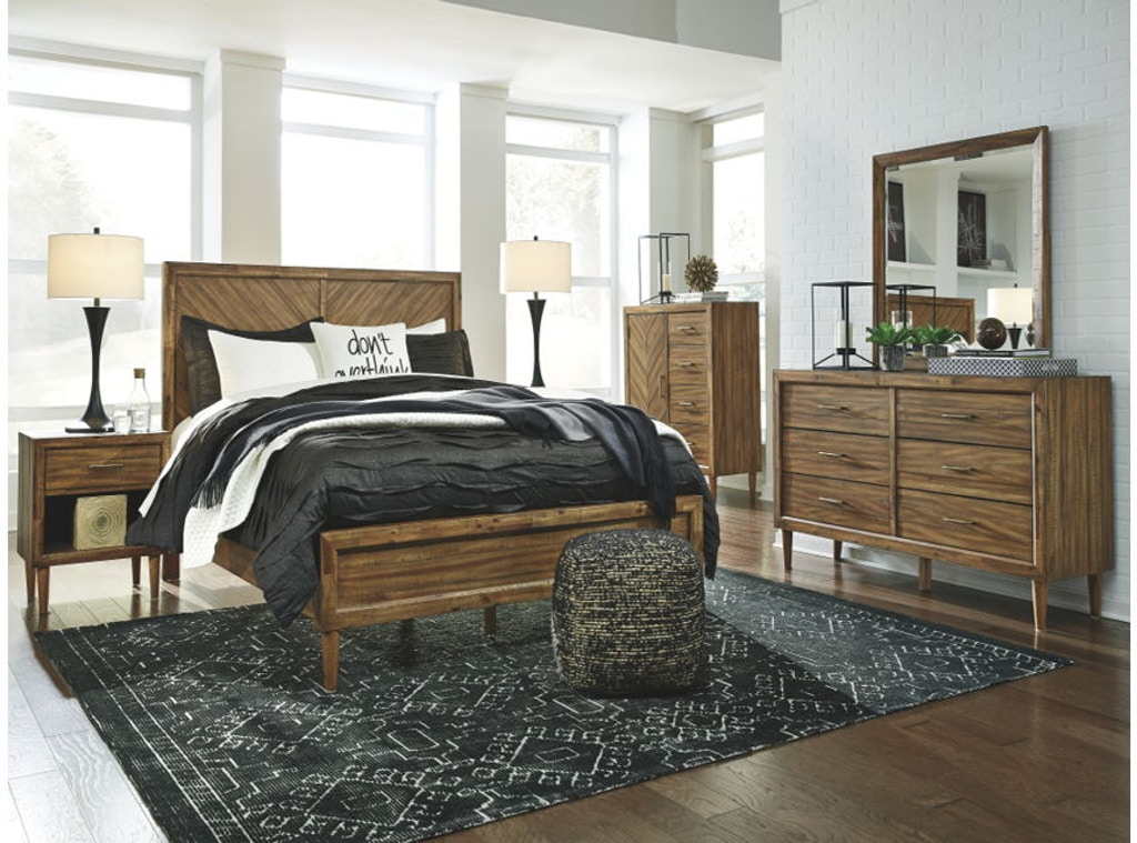 6 Piece California King Panel Bedroom Set