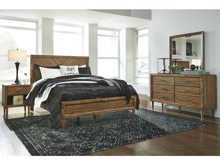 Ashley Broshtan 6 Piece Queen Panel Bedroom Set B518-31-36-57-54-96 ...