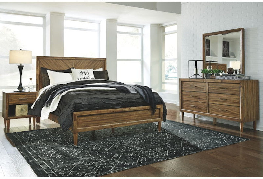 Ashley Broshtan 6 Piece Queen Panel Bedroom Set B518-31-36-57-54-96 ...