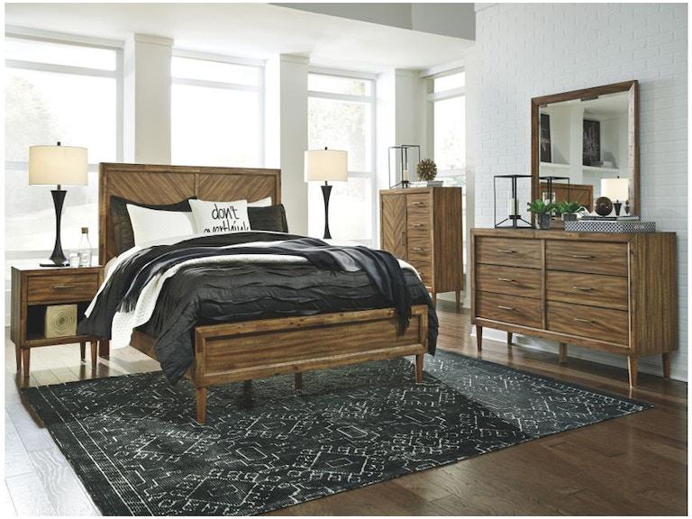 Ashley Broshtan 7 Piece King Panel Bedroom Set B518 31 36 58 56 97