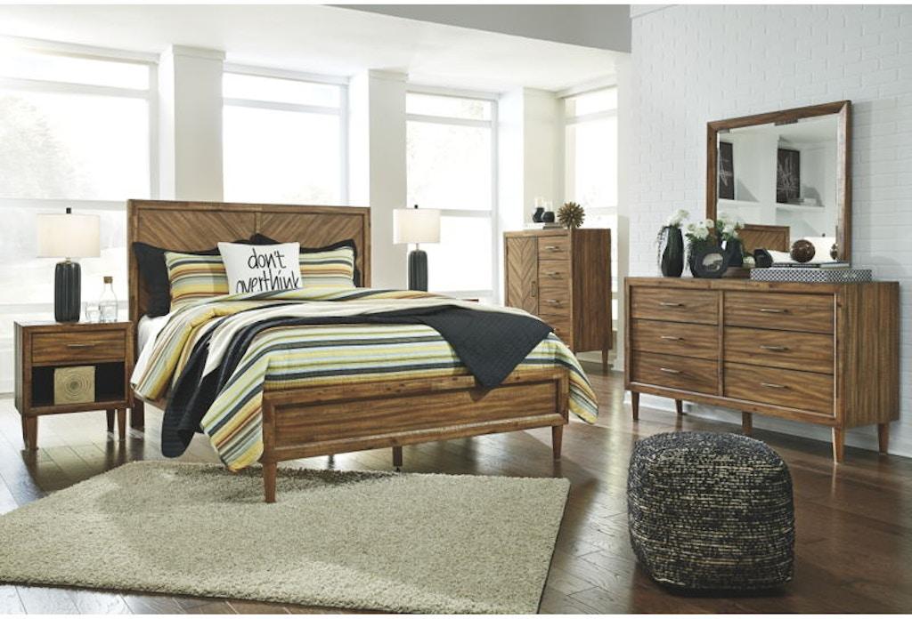 7 Piece California King Panel Bedroom Set