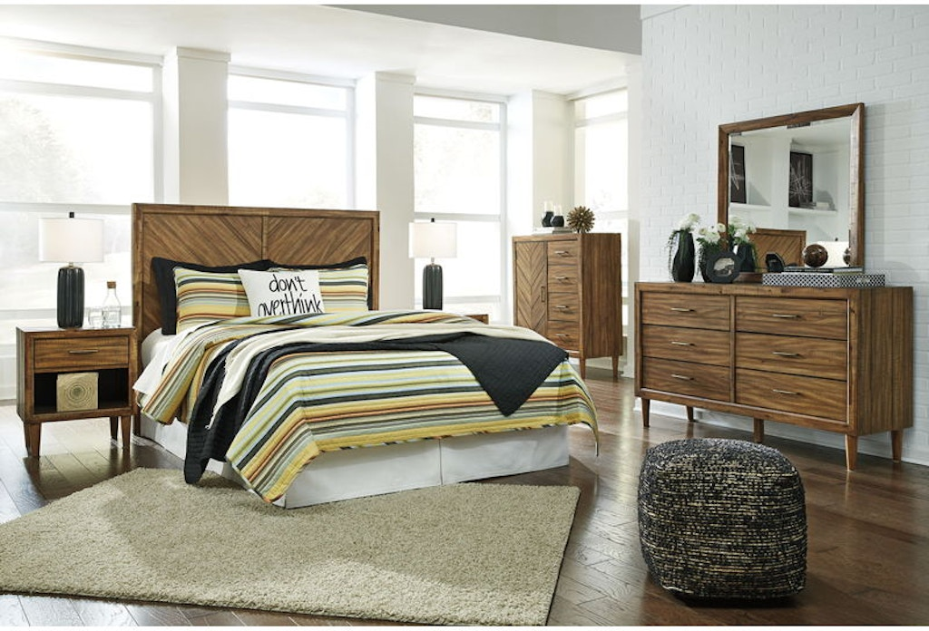 5 Piece King Panel Bedroom Set