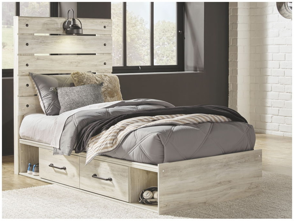 Ashley Cambeck Twin Panel Bed With Side Storage B192 53 52 150