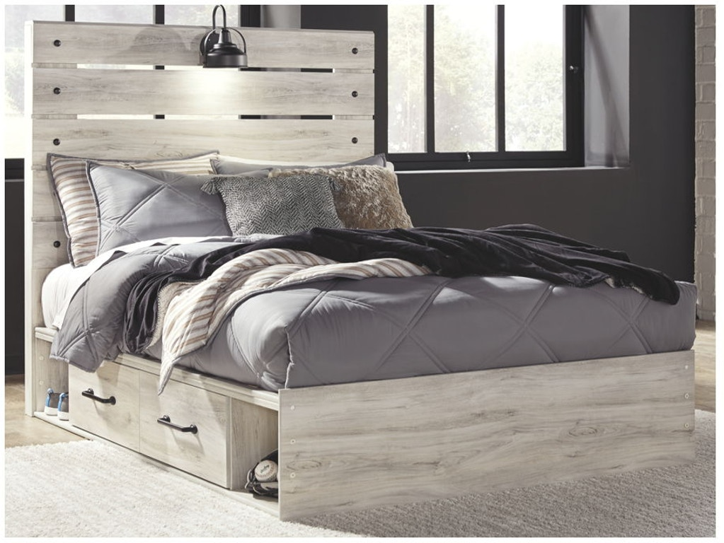 Ashley Cambeck Full Panel Bed With Side Storage B192 87 84 150