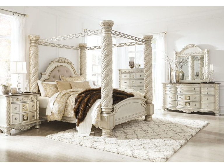 Ashley Cassimore 8 Piece Queen Upholstered Bedroom Set B750-31-36-46 ...