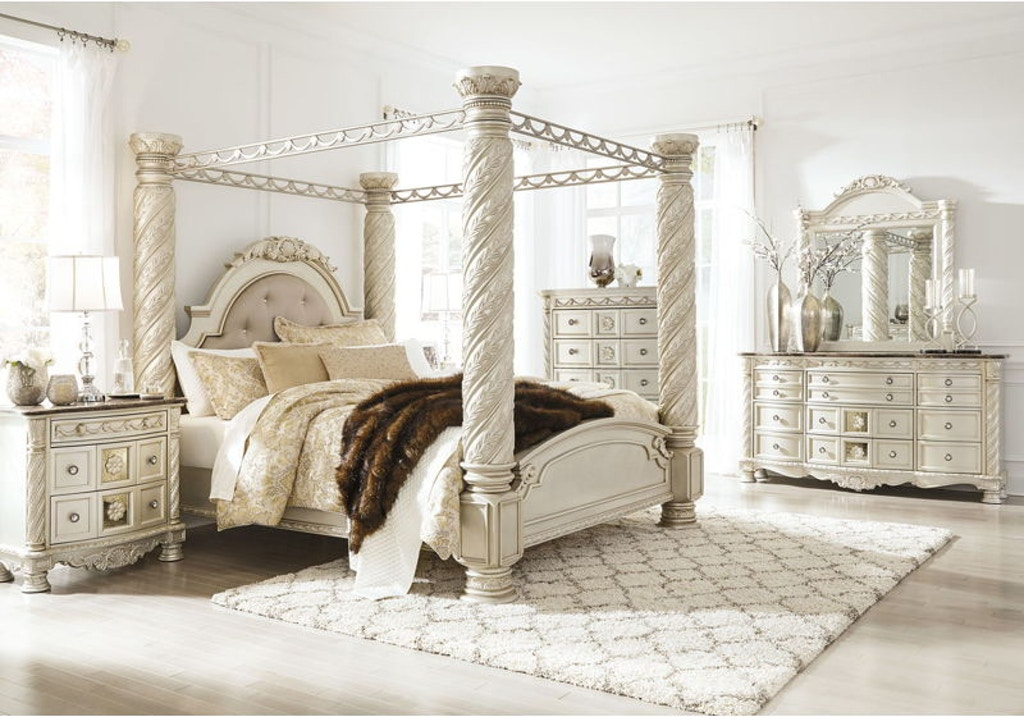 8 Piece California King Upholstered Bedroom Set
