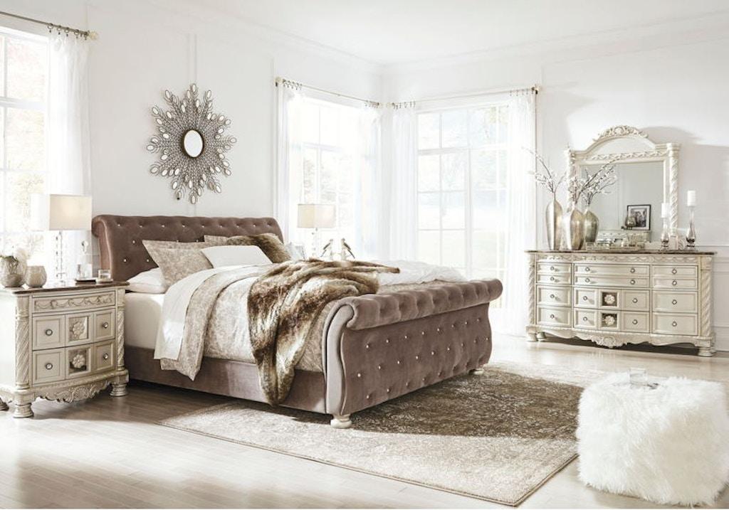 7 Piece King Upholstered Bedroom Set