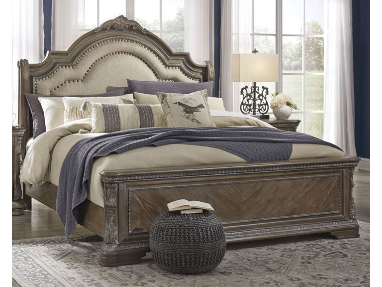 Ashley Charmond King Upholstered Sleigh Bed B803 58 56 97