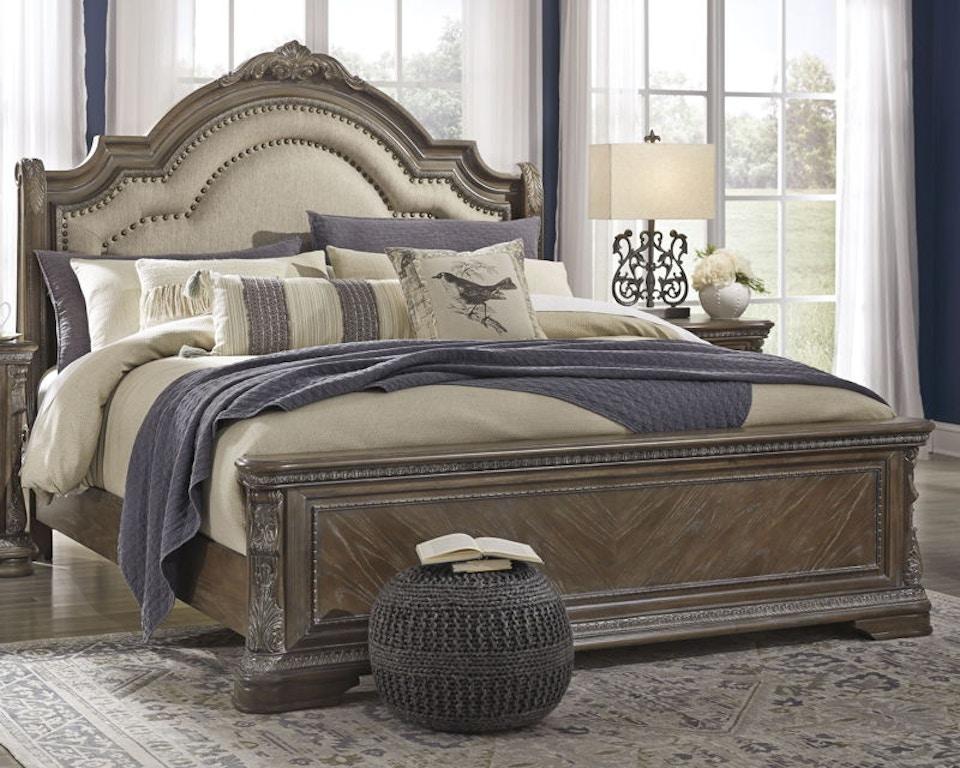 Ashley Charmond King Upholstered Sleigh Bed B803 58 56 97