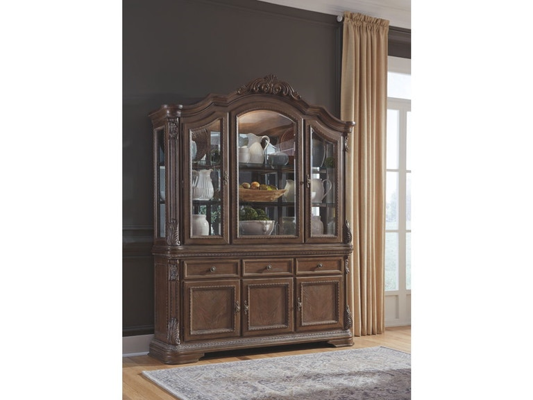 Ashley Charmond Dining Room Buffet and China Cabinet D803-80 ...