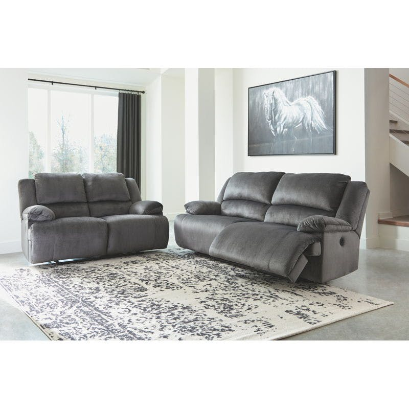 Picture of: Ashley Clonmel Power Reclining Sofa And Loveseat Set 36505 81 86 Portland Or Key Home