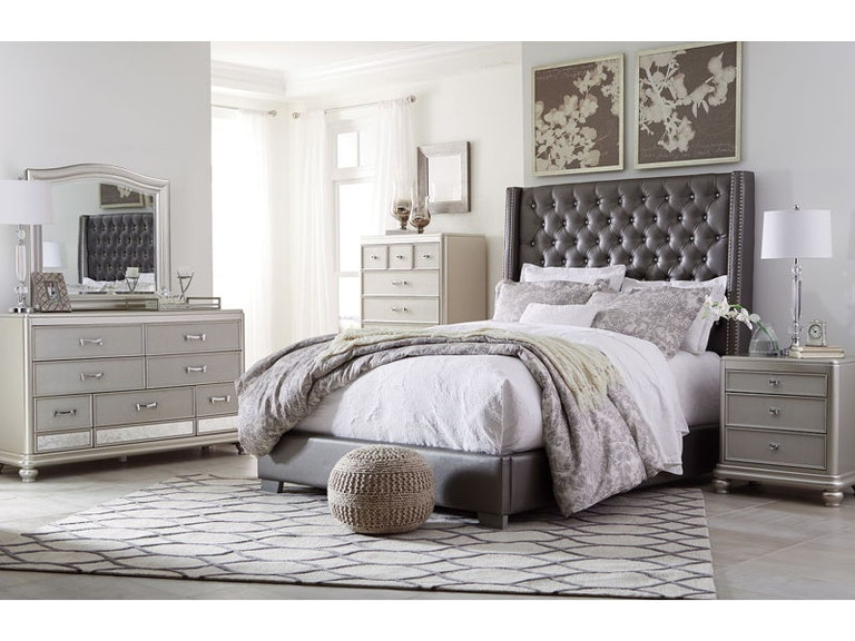 Ashley Coralayne 6 Piece Queen Upholstered Bedroom Set B650-31-136 ...