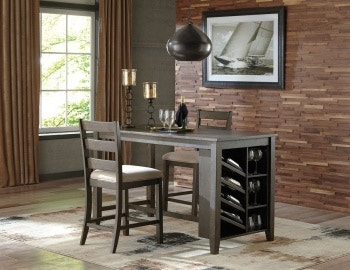 Ashley Rokane 3 Piece Rectangular Counter Dining Set D397 32 124 2 In