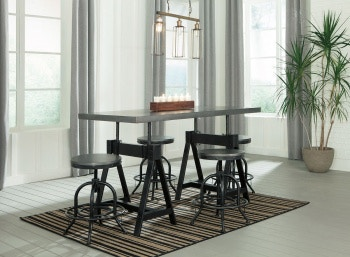 Ashley Minnona 5 Piece Rectangular Dining Set D400 213 024 4 In Portland
