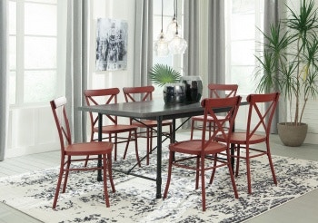 Ashley Minnona 7 Piece Rectangular Dining Set D400 225 103 6 In Portland