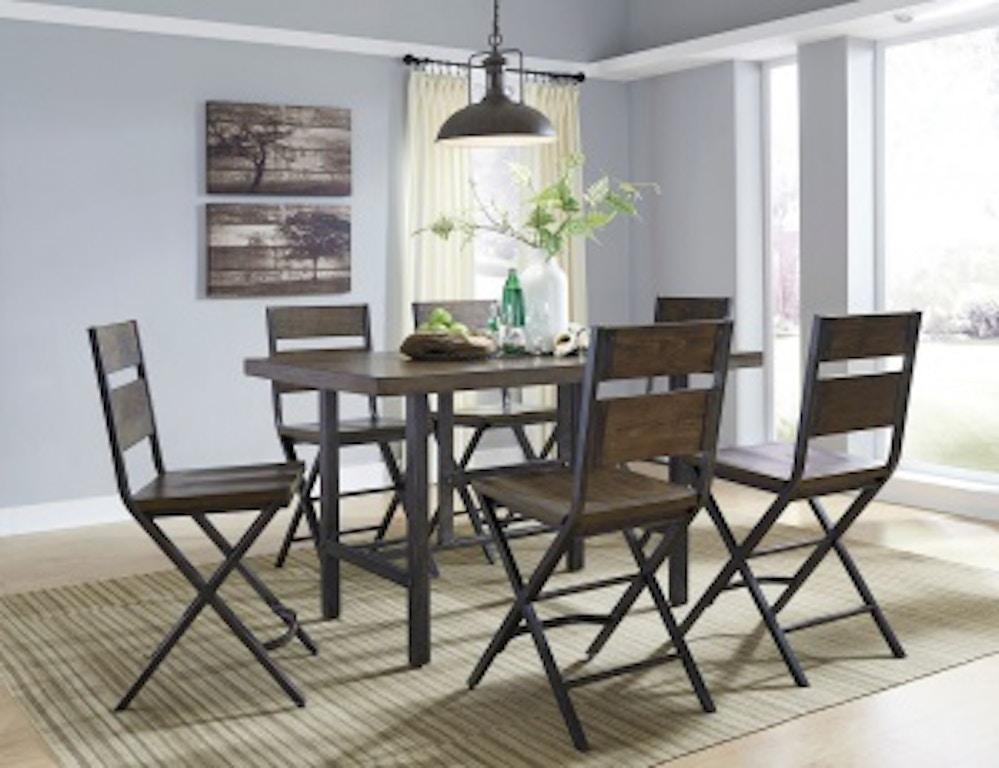 Ashley Kavara 7 Piece Rectangular Counter Dining Set