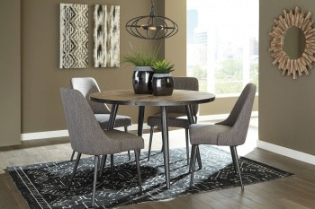 Ashley Coverty 5 Piece Round Dining Set D605 15 01 4 In Portland
