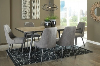 Ashley Coverty 7 Piece Rectangular Dining Set D605 25 01 6 In Portland