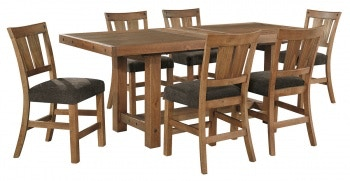 Ashley Tamilo 7 Piece Rectangular Counter Dining Set D714 32 124 6 In
