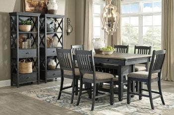 Ashley Tyler Creek 9 Piece Rectangular Counter Dining Set D736 32 124 6