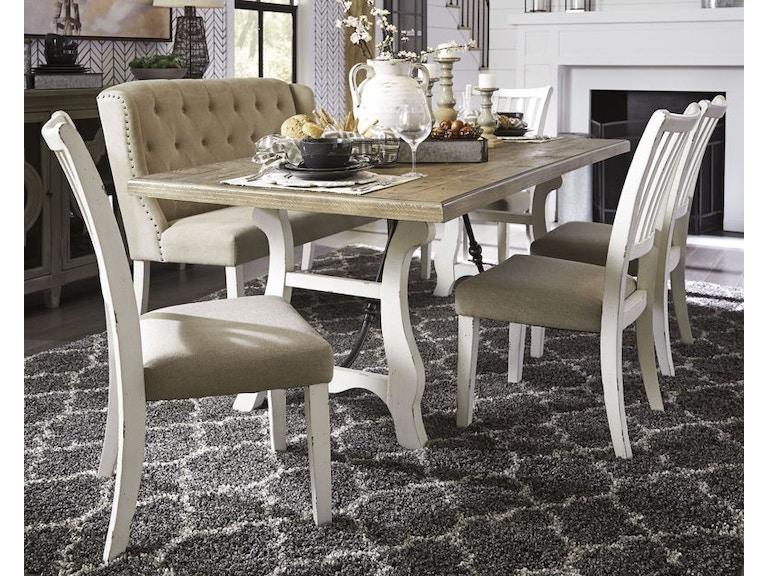Ashley Dazzelton 6 Piece Rectangular Dining Room Set D742