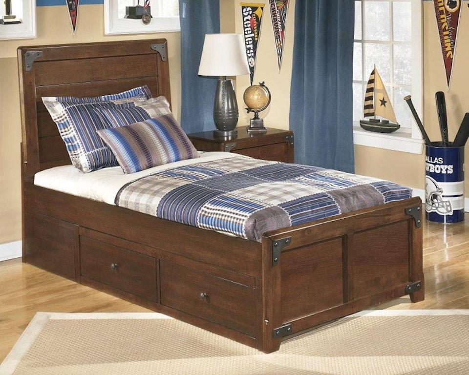 Ashley Delburne Twin Panel Storage Bed B362 63 50 70 Portland