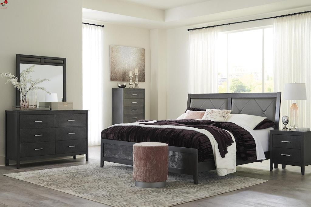 Ashley Delmar 6 Piece King Panel Bed Set B483 31 36 46 82 97 92 Portland Or Key Home