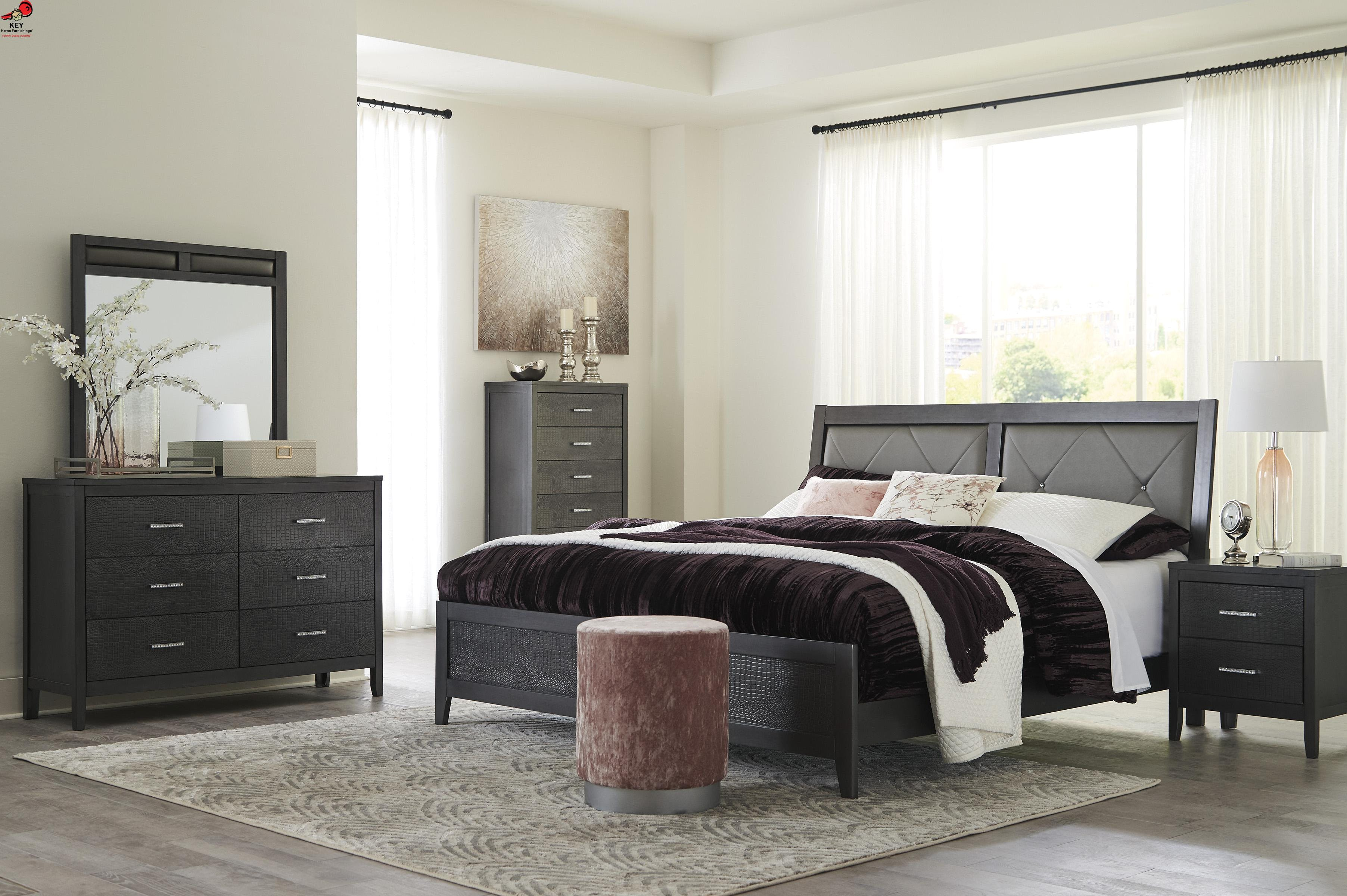 Picture of: Ashley Delmar 7 Piece Queen Panel Bed Set B483 31 36 46 81 96 92 2 Portland Or Key Home
