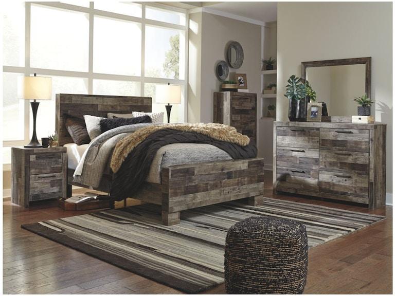 Ashley Derekson 6 Piece Queen Panel Bedroom Set B200 31 36 46 57