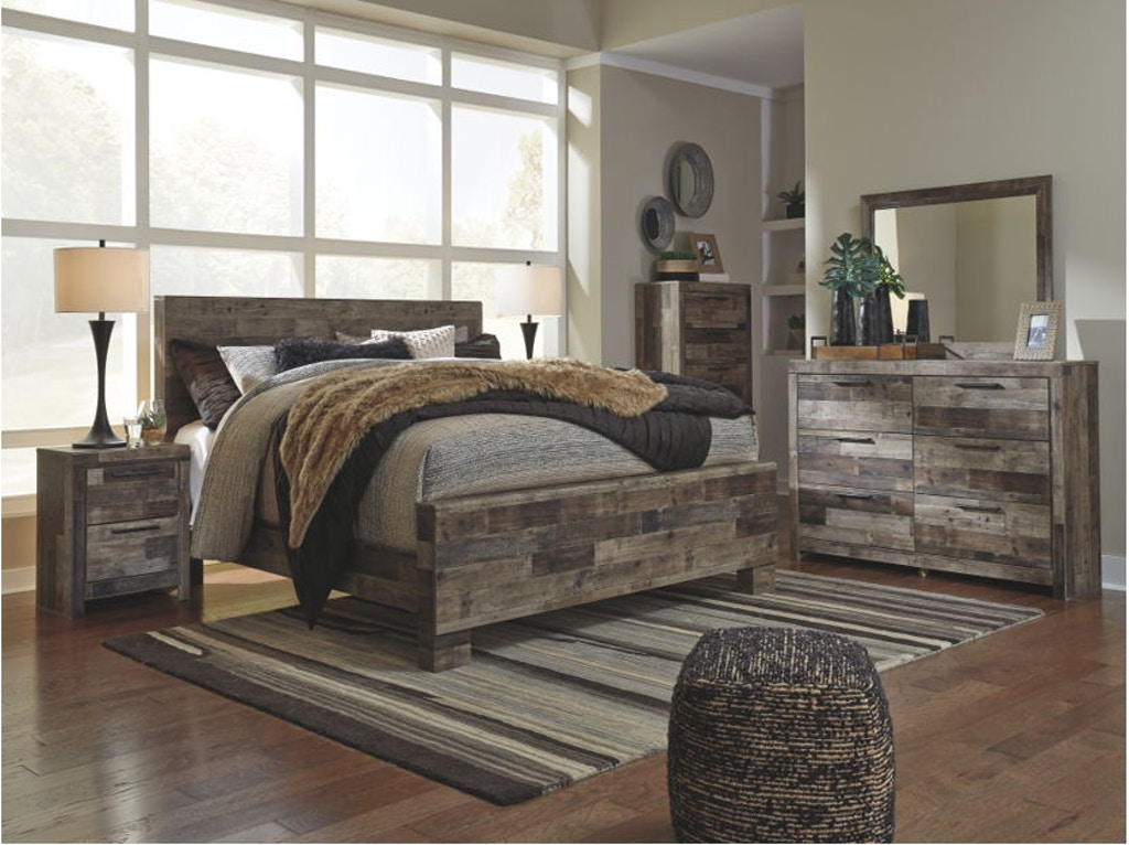 Ashley Derekson 8 Piece King Panel Bedroom Set B200-31-36-46 ...