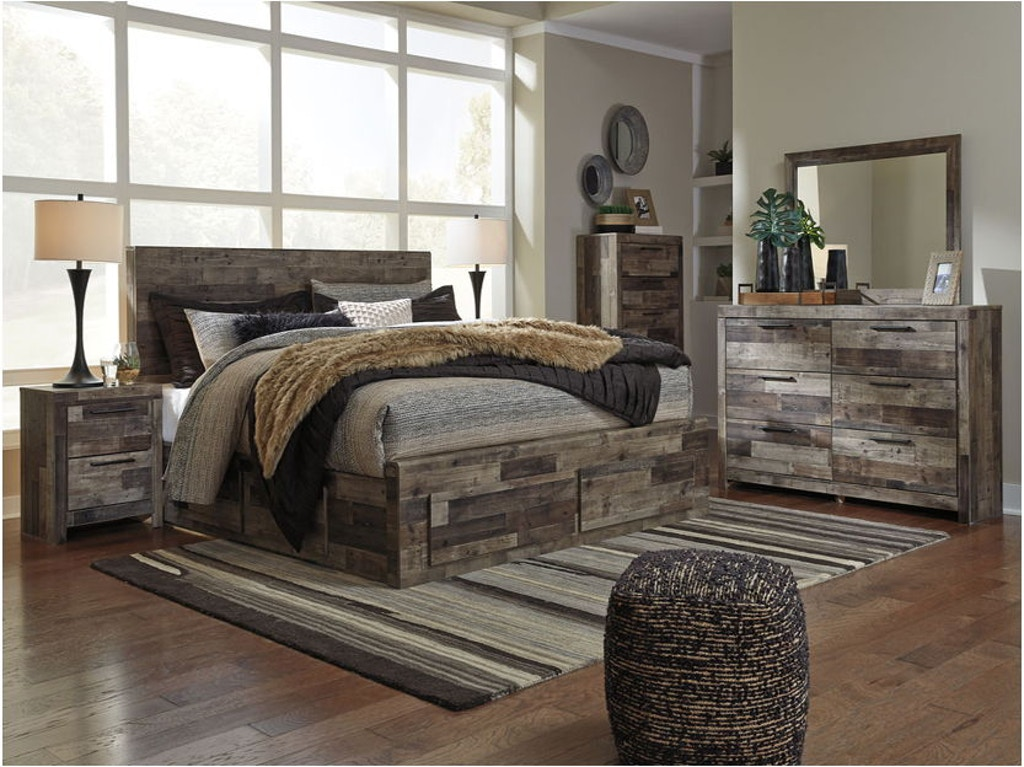 Ashley Derekson 8 Piece King Panel Storage Bedroom Set B200 ...