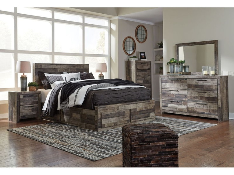 Ashley Derekson 8 Piece King Panel Bedroom Set B200 31 36 46 58 56s