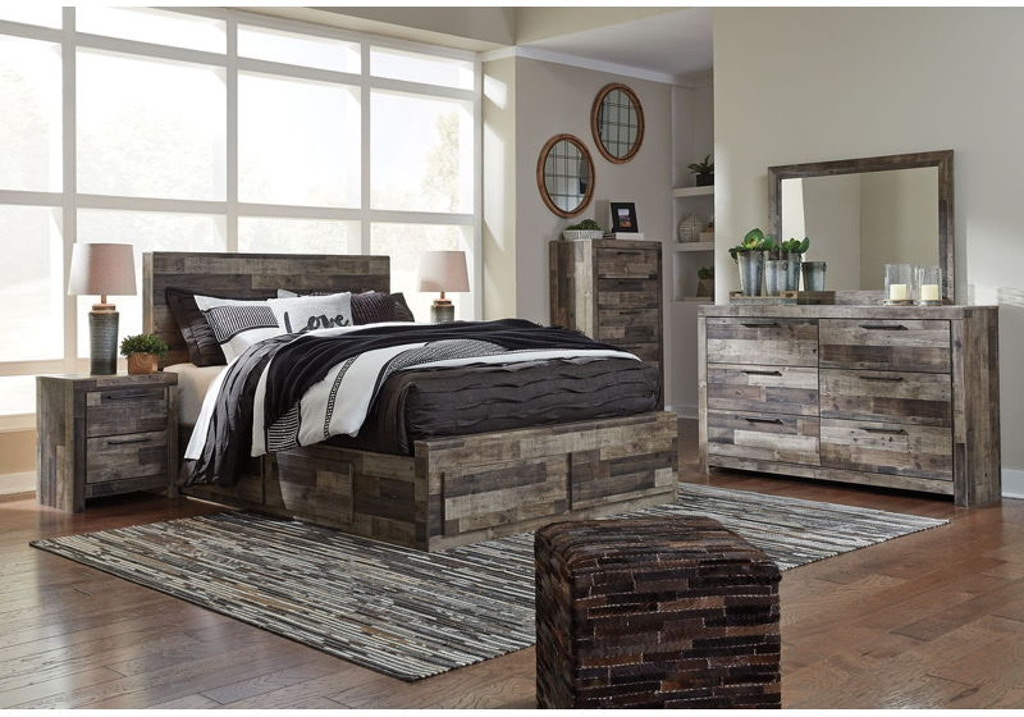 8 Piece King Panel Bedroom Set