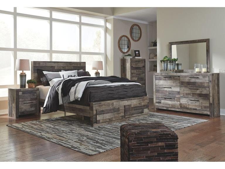 Ashley Derekson 7 Piece Queen Panel Bedroom Set B200-31-36-57-54-96 ...