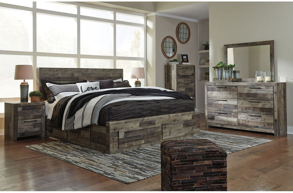 Ashley Derekson 8 Piece King Storage Bedroom Set B200-31-36 ...
