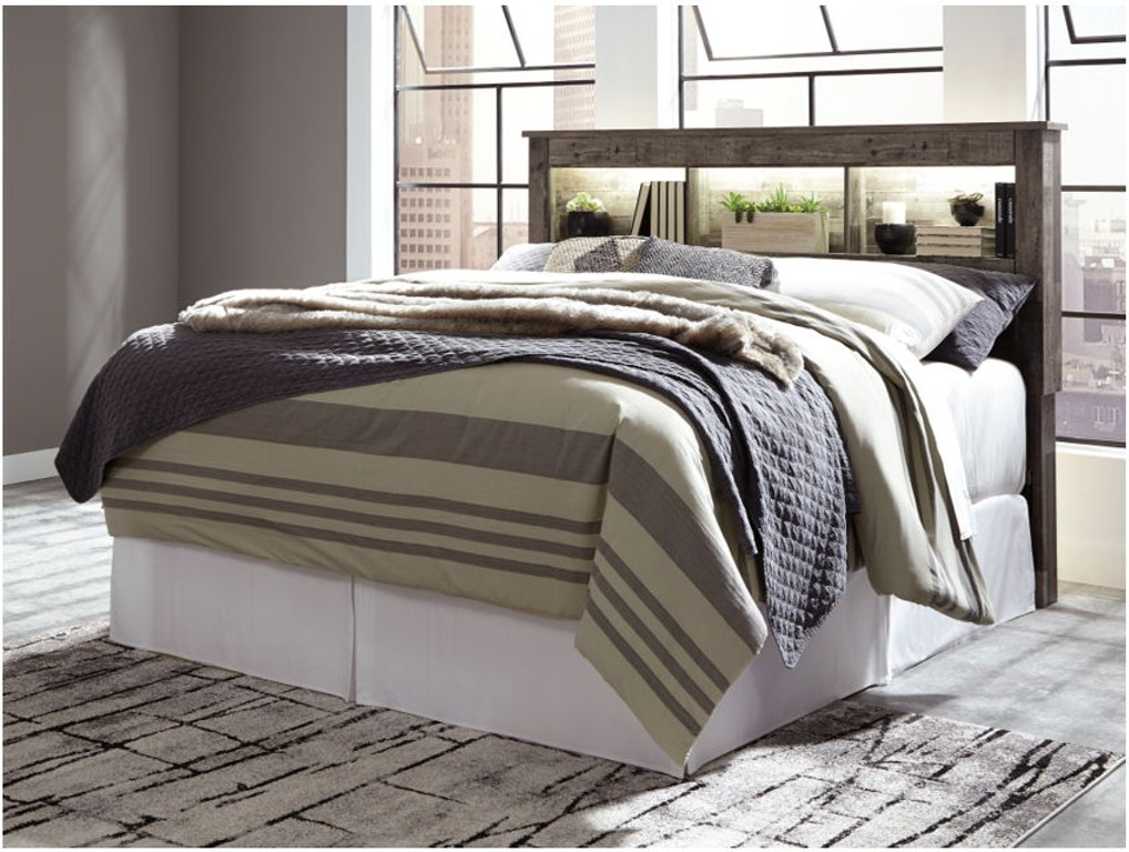 King Bookcase Headboard With Bolt On Bed Frame