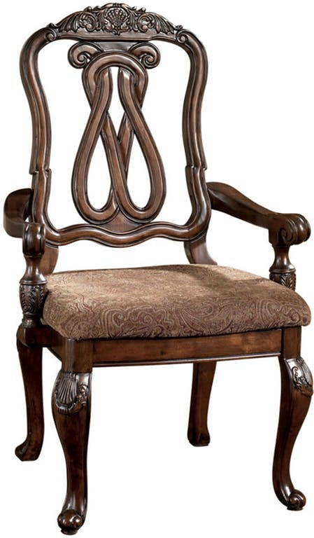 Ashley Dining UPH Arm Chair (Qty 2) D553 03A In Portland, Oregon
