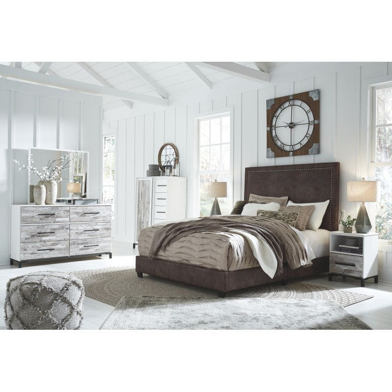 Ashley Dolante 6 Piece Queen Upholstered Bed Set B130 281 B315 31 36 48 91 2 Portland Or Key