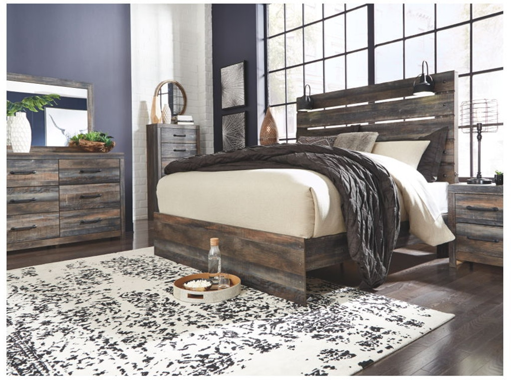 Ashley Drystan 7 Piece King Panel Bed Set B211-31-36-58-56 ...
