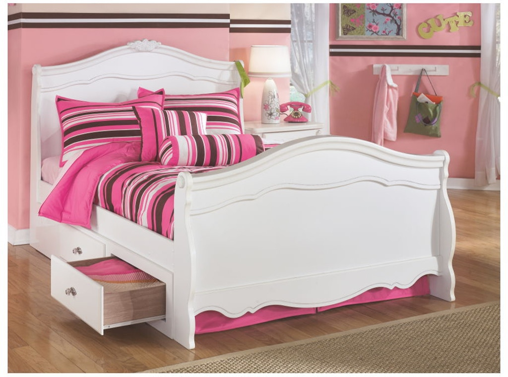Ashley Exquisite Twin Sleigh Bed With Storage B188 63n 62n 82n 60