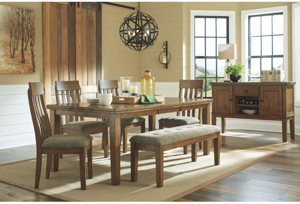 6 Piece Rectangular Extension Dining Room Table Set
