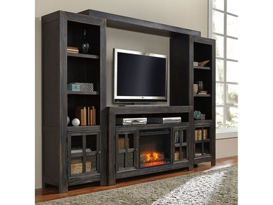 Ashley Gavelston Entertainment Center With Fireplace