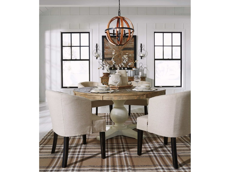 Ashley Grindleburg 6 Piece Round Dining Room Table Set D754 50t 50b 03a 4 Portland Or Key Home
