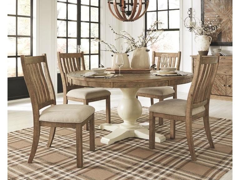 Ashley Grindleburg 6 Piece Round Dining Room Table Set D754 50t 50b 05 4 Portland Or Key Home