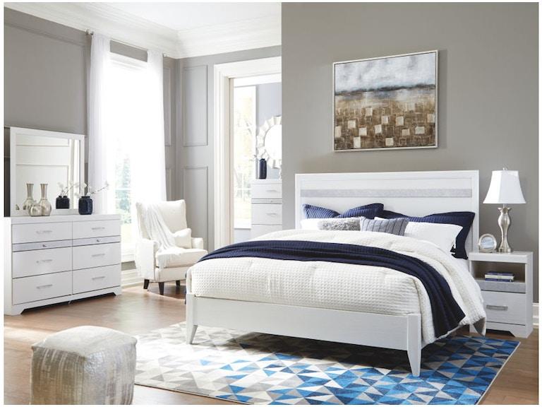 Ashley Jallory 6 Piece King Panel Bed Set B302 31 36 58 56 91 2
